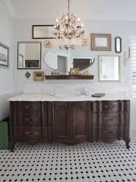 eclectic bathroom vanity. sideboard made into bathroom vanities | old dresser turned to vanity eclectic r