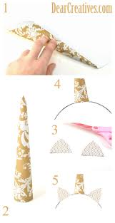 how to make a unicorn horn out of paper and glue it and cut out