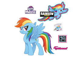 rainbow dash my little pony the giant officially licensed removable wall decal