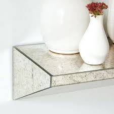 floating mirror wall shelves vibrant inspiration mirrored stylish decoration wedge shelf foxed west elm