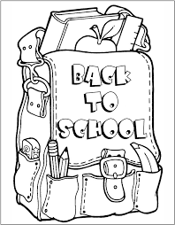Small Picture Back To School Coloring Page