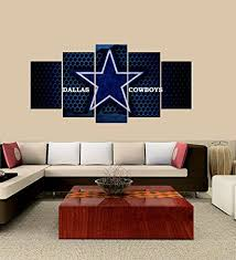 premium quality canvas printed wall art poster 5 pieces 5 pannel wall decor dallas cowboys on dallas cowboys logo wall art with amazon premium quality canvas printed wall art poster 5 pieces