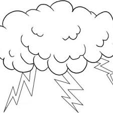Small Picture A Cloud Full of Lighting Bolt Coloring Page Color Luna