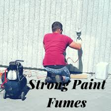 how to remove paint fumes