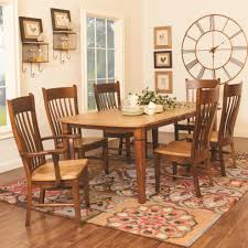 amish furniture for 7 pieces dining room set with rectangular dining table with arm dining chair