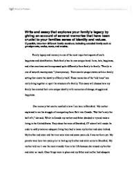 write and essay that explores your family s legacy by giving  page 1 zoom in