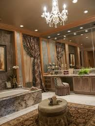 traditional master bathroom ideas. Upscale Designer Bathroom With Chandelier Traditional Master Ideas N