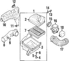 parts com® chevrolet engine air intake air temp sensor grommet 2003 chevrolet tracker lt l4 2 0 liter gas air intake
