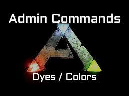 ark admin commands dyes colors