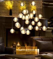 crystal chandeliers light bucci ball fashion meteor shower fixtures 3 led bulbs bedroom lamp home deco