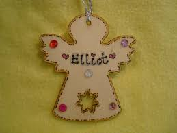 2017 personalised wooden fairy angel shaped tree hanger with gem decorations any name