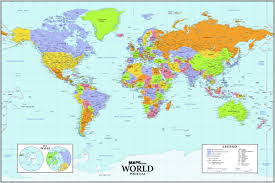 world political wall map  mapscom