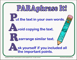 Paraphrasing 7th Grade Paraphrasing Citing Libguides