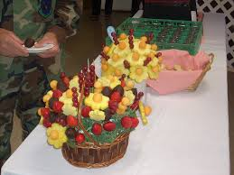 amazing wedding flowers fruit basket