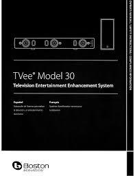 Boston Tvee Model Two Red Light Boston Acoustics Tvee 30 User Manual Manualzz Com