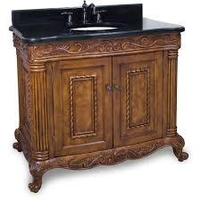 jeffrey alexander burled painted walnut ornate bathroom vanity with black granite top sink