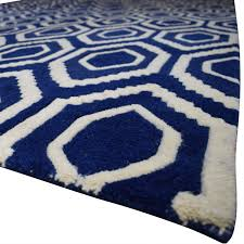 one kings lane one kings lane blue and white patterned rug
