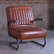 adler retro leather chair