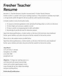 Resume For Computer Science Teacher Fresher Magnificient Teacher