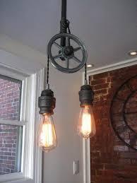 pulley lighting. single steel pulley light lighting t