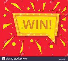 Congratulations Poster Winner Sign Congratulations Win Banner Flat Vector Winner