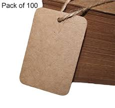 Diy Clothing Label 100pcs Qingsun Crafts Hang Tags 4 6cm Square Blank Wedding Kraft Paper Board Diy Clothing Label Price Tag Word Cards Favor Gift Tags Coffee