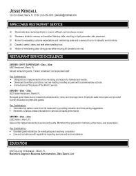 Sample Server Resume Michael Resume