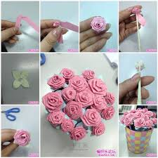 How To Make Flower With Paper Folding Diy Origami Rose Bouquet