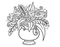 Disegno Di Un Vaso Con Fiori Da Colorare Acolorecom