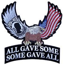 Patriotic POW-MIA American Eagle Flag Biker Patch – Quality Biker ...