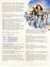 Oath Of The Athenai Homebrew Paladin Oath Of Athena I Would