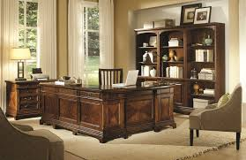 Aspenhome Hawthorne Desk and Reversible Return in Brown Cherry