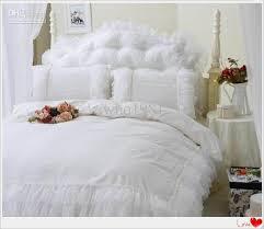 luxury snow white lace bedspread