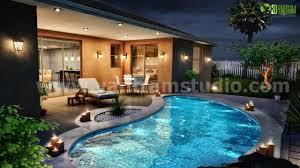 home swimming pools at night. Residentail Exterior Pool Night Design View_3378.jpg Home Swimming Pools At O