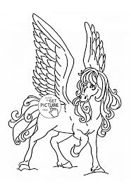 Small Picture Flying Horse coloring page for kids animal coloring pages