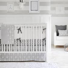 grey crib sheet