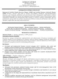 Information Systems Consultant Resume