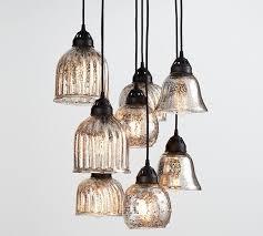 mercury glass lighting fixtures. Kenzie Mercury Chandelier Pottery Barn Attractive Glass Lighting Pertaining To 6 Fixtures