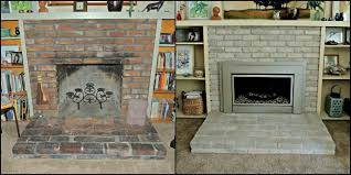 painting old brick fireplace brick anew blog repainting a fireplace mantel painting a gas fireplace mantel