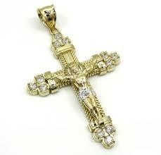 gold crucifix necklace for men clipart
