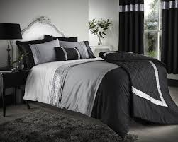 black grey silver silver bedding double with queen size bed
