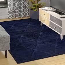 navy blue area rugs zipcode design salgado rug reviews wayfair