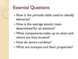 Unit 2: The Periodic Table - ppt video online download