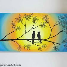 love birds in tree abstract acrylic painting on canvas abstract tree painting yellow on whimsical wall art on canvas with love birds in tree abstract acrylic from paintspiration art