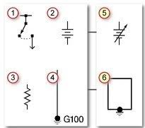 wiring diagrams for diy car repairs youfixcars com Online Car Wiring Diagrams electrical symbols chart online automotive wiring diagrams