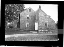 side view of Nathaniel Downing House, north Main Street, New York ...