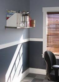 like the two tone idea with a chair rail