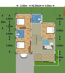 modern three bedroom two story house