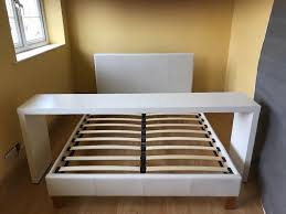 table over bed. ikea malm white double bed + over table e