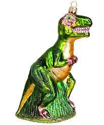 Unbekannt Christbaumschmuck Figuren Tiere Tyrannosaurus Rex Dino 15cm Christbaumkugeln Weihnachtskugeln Weihnachts Baumschmuck Baumkugeln Deko